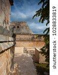 majestic ruins in uxmal mexico. ... | Shutterstock . vector #1028833819