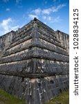 majestic ruins in chichen itza... | Shutterstock . vector #1028834125
