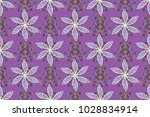 seamless floral pattern with... | Shutterstock . vector #1028834914