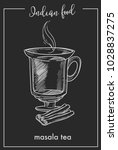 masala tea with cinnamon in... | Shutterstock .eps vector #1028837275