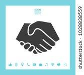 symbol of handshake in circle....   Shutterstock .eps vector #1028838559
