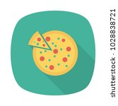 pizza slice food  | Shutterstock .eps vector #1028838721