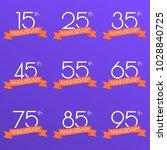 anniversary logo set. 15 25 35... | Shutterstock .eps vector #1028840725