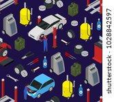 car auto service seamless...   Shutterstock .eps vector #1028842597
