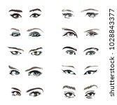 Eyes And Eye Icon Set Vector...