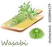 wasabi japanese horseradish... | Shutterstock .eps vector #1028846179