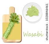 wasabi japanese horseradish... | Shutterstock .eps vector #1028846461