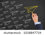 leadership concepts on... | Shutterstock . vector #1028847724