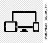 monitor  phone  tablet icon | Shutterstock .eps vector #1028850544