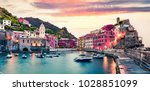 one of the five towns that make ... | Shutterstock . vector #1028851099
