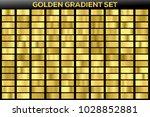 golden gradient noble metal set.... | Shutterstock .eps vector #1028852881