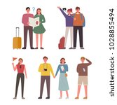 people going on a trip. hand... | Shutterstock .eps vector #1028855494