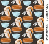 baking pastry prepare cooking... | Shutterstock .eps vector #1028857327