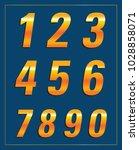 number in gold | Shutterstock .eps vector #1028858071