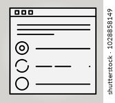 vector icon of a site template  ... | Shutterstock .eps vector #1028858149