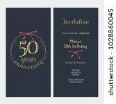 50 years anniversary invitation ... | Shutterstock .eps vector #1028860045