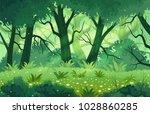 summer fantasy forest landscape ...   Shutterstock .eps vector #1028860285