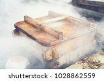 ancient japanese steamer | Shutterstock . vector #1028862559