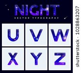colorful space letters alphabet ... | Shutterstock .eps vector #1028863207