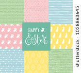 cute collection with easter... | Shutterstock .eps vector #1028863645
