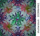 vector spring flower seamless... | Shutterstock .eps vector #1028864461