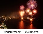 Night View And Firework At...