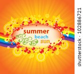 colorful summer background with ... | Shutterstock .eps vector #102886721