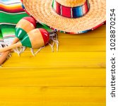mexico sombrero cinco de mayo... | Shutterstock . vector #1028870254