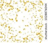 golden confetti. vector festive ... | Shutterstock .eps vector #1028876044