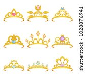 collection of various royal... | Shutterstock .eps vector #1028876941
