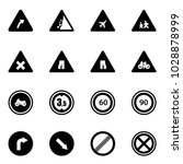 solid vector icon set   turn... | Shutterstock .eps vector #1028878999
