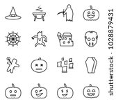flat vector icon set   witch...   Shutterstock .eps vector #1028879431