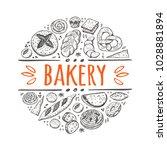 bakery concept design. round... | Shutterstock .eps vector #1028881894