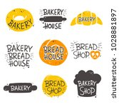 colorful bakery lettering set....   Shutterstock .eps vector #1028881897