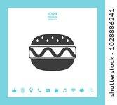 hamburger or cheeseburger icon | Shutterstock .eps vector #1028886241