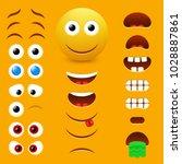 emoji maker  smiley creator.... | Shutterstock .eps vector #1028887861