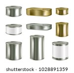 vector canned food realistic... | Shutterstock .eps vector #1028891359