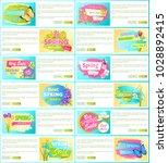 spring big sale off set of... | Shutterstock .eps vector #1028892415