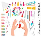 nail art  poster with samples... | Shutterstock .eps vector #1028892445