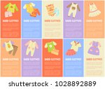 baby clothes set with text...   Shutterstock .eps vector #1028892889