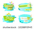 discounts spring sale labels... | Shutterstock .eps vector #1028893945