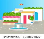 small villa with lot of green...   Shutterstock .eps vector #1028894029
