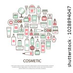 cosmetic collection with text... | Shutterstock .eps vector #1028894047