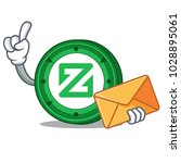 with envelope zcoin character... | Shutterstock .eps vector #1028895061