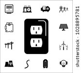 electric meter icon. set of... | Shutterstock .eps vector #1028895781