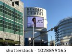 Small photo of LOS ANGELES, FEB 16TH, 2018: The Beverly Center sign and building exterior at the intersection of San Vicente and Beverly Boulevard, across the street from Cedars Sinai medical center.