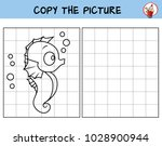 funny little seahorse. copy the ... | Shutterstock .eps vector #1028900944