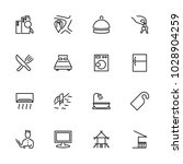 line icon set related to hotel...