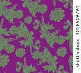 vintage wallpaper rapport.... | Shutterstock .eps vector #1028909794
