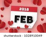 origami made of calendar for... | Shutterstock .eps vector #1028910049